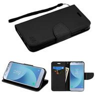 MyBat Liner MyJacket Wallet Crossgrain Series for Samsung J337 (Galaxy J3 (2018)) - Black Pattern / Black