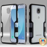 MyBat TUFF Panoview Hybrid Protector Cover for Samsung J337 (Galaxy J3 (2018)) - Metallic Black / Transparent Clear