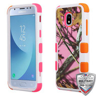 MyBat TUFF Hybrid Protector Cover [Military-Grade Certified] for Samsung J337 (Galaxy J3 (2018)) - Pink Oak-Hunting Camouflage Collection / Electric Pink and Orange