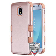 MyBat TUFF Hybrid Protector Cover [Military-Grade Certified] for Samsung J337 (Galaxy J3 (2018)) - Textured Rose Gold / Rose Gold