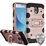 MyBat Storm Tank Hybrid Protector Cover [Military-Grade Certified] for Samsung J337 (Galaxy J3 (2018)) - Rose Gold / Black