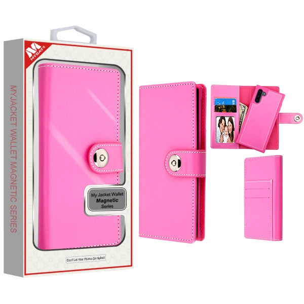 MyBat Detachable Magnetic 2 - in - 1 MyJacket Wallet (TPU Case + Leather Folio) for Samsung Galaxy Note 10 (6.3) - Hot Pink