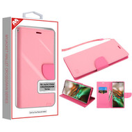 MyBat Liner MyJacket Wallet Crossgrain Series for Samsung Galaxy Note 10 (6.3) - Pink Pattern / Hot Pink