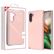 MyBat Fuse Hybrid Protector Cover for Samsung Galaxy Note 10 (6.3) - Rose Gold / Metallic Rose Gold