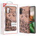 MyBat Fuse Hybrid Protector Cover for Samsung Galaxy Note 10 (6.3) - Black Lace Flowers (2D Rose Gold) / Black