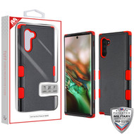 MyBat TUFF Hybrid Protector Cover [Military-Grade Certified] for Samsung Galaxy Note 10 (6.3) - Natural Black / Red