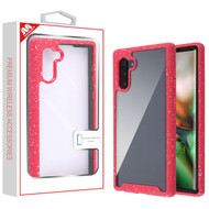 MyBat Splash Hybrid Case for Samsung Galaxy Note 10 (6.3) - Highly Transparent Clear / Red