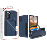 MyBat Poket Hybrid Protector Cover (with Back Film) for Samsung Galaxy Note 10 (6.3) - Ink Blue / Black