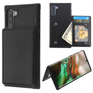 MyBat Flip Wallet Executive Protector Cover(TPU Case with Snap Fasteners) for Samsung Galaxy Note 10 (6.3) - Black