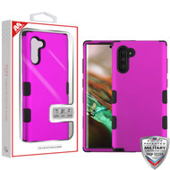 MyBat TUFF Hybrid Protector Cover [Military-Grade Certified] for Samsung Galaxy Note 10 (6.3) - Titanium Solid Hot Pink / Black