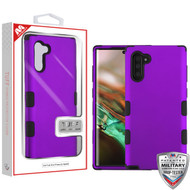 MyBat TUFF Hybrid Protector Cover [Military-Grade Certified] for Samsung Galaxy Note 10 (6.3) - Rubberized Grape / Black