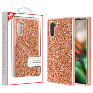 MyBat Encrusted Rhinestones Hybrid Case for Samsung Galaxy Note 10 (6.3) - Electroplated Rose Gold / Rose Gold