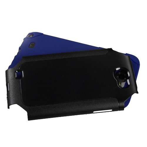 MyBat Frosted Fusion Protector Cover for Samsung Galaxy Note II (T889/I605/N7100) - Black / Dark Blue