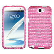 MyBat Diamante Protector Cover for Samsung Galaxy Note II (T889/I605/N7100) - Dots(Pink / white)