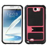 MyBat Gummy Armor Stand for Samsung Galaxy Note II (T889/I605/N7100) - Hot Pink