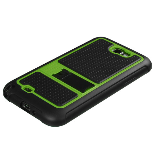 MyBat Gummy Armor Stand for Samsung Galaxy Note II (T889/I605/N7100) - Green