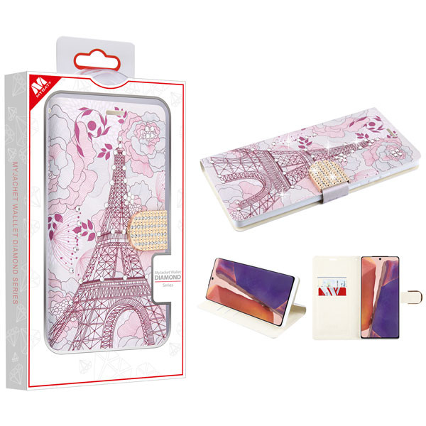 MyBat MyJacket Wallet Diamond Series for Samsung Galaxy Note 20 - Eiffel Tower