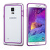 MyBat MyBumper Protector Cover for Samsung Galaxy Note 4 - Purple / Transparent Clear