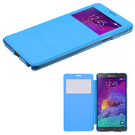 MyBat Silk Texture MyJacket (with Transparent Frosted Tray) for Samsung Galaxy Note 4 - Baby Blue