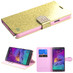 MyBat Glittering MyJacket (with Diamante Belt) for Samsung Galaxy Note 4 - Gold
