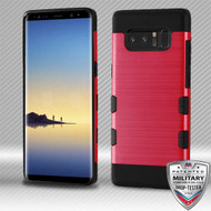 MyBat Brushed TUFF Trooper Hybrid Protector Cover [Military-Grade Certified] for Samsung Galaxy Note 8 - Red / Black