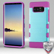 MyBat Brushed TUFF Trooper Hybrid Protector Cover [Military-Grade Certified] for Samsung Galaxy Note 8 - Metallic Baby Blue / Electric Purple