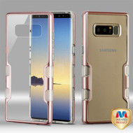 MyBat TUFF Panoview Hybrid Protector Cover for Samsung Galaxy Note 8 - Metallic Rose Gold / Transparent Clear