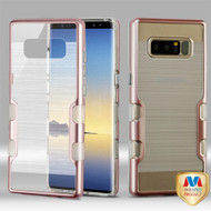 MyBat TUFF Brushed Panoview Hybrid Protector Cover for Samsung Galaxy Note 8 - Metallic Rose Gold / Transparent Clear