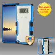 MyBat TUFF Vivid Hybrid Protector Cover for Samsung Galaxy Note 8 - Natural Dark Blue Frame+Transparent PC Back / Black