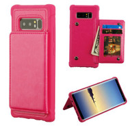 MyBat Flip Wallet Executive Protector Cover(TPU Case with Snap Fasteners) for Samsung Galaxy Note 8 - Hot Pink
