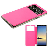 MyBat Silk Texture MyJacket (with Transparent Frosted Tray) for Samsung Galaxy Note 8 - Hot Pink