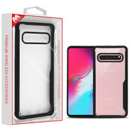 MyBat Vista Hybrid Protector Cover for Samsung Galaxy S10 5G - Transparent Clear / Black