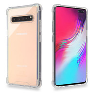 MyBat Sturdy Gummy Cover for Samsung Galaxy S10 5G - Highly Transparent Clear / Transparent Clear