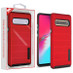 MyBat Fusion Protector Cover for Samsung Galaxy S10 5G - Red Dots Textured / Black