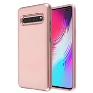 MyBat Fuse Hybrid Protector Cover for Samsung Galaxy S10 5G - Rose Gold / Metallic Rose Gold