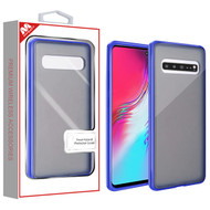 MyBat Frost Hybrid Protector Cover for Samsung Galaxy S10 5G - Semi Transparent Smoke Frosted / Rubberized Ink Blue