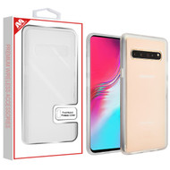 MyBat Frost Hybrid Protector Cover for Samsung Galaxy S10 5G - Semi Transparent White Frosted / Rubberized Semi Transparent White
