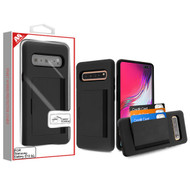 MyBat Poket Hybrid Protector Cover (with Back Film) for Samsung Galaxy S10 5G - Black / Black
