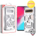 MyBat SKULLCAP Lucid Hybrid Protector Cover [Military-Grade Certified] for Samsung Galaxy S10 5G - Silver Plating / Transparent Clear