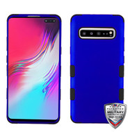 MyBat TUFF Hybrid Protector Cover [Military-Grade Certified] for Samsung Galaxy S10 5G - Titanium Dark Blue / Black