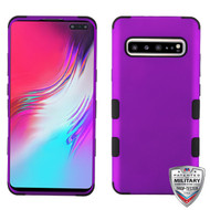 MyBat TUFF Hybrid Protector Cover [Military-Grade Certified] for Samsung Galaxy S10 5G - Rubberized Grape / Black