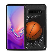 MyBat Vista Hybrid Protector Cover for Samsung Galaxy S10 - Slam Dunk / Black