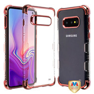 MyBat TUFF Klarity Lux Candy Skin Cover for Samsung Galaxy S10E - Rose Gold Plating