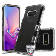 MyBat TUFF Lucid Hybrid Protector Cover [Military-Grade Certified] for Samsung Galaxy S10E - Transparent Smoke / Transparent Clear
