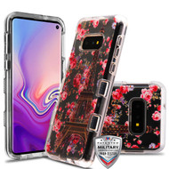 MyBat TUFF Lucid Hybrid Protector Cover [Military-Grade Certified] for Samsung Galaxy S10E - Transparent Clear / Paris in Full Bloom