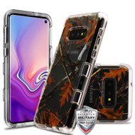 MyBat TUFF Lucid Hybrid Protector Cover [Military-Grade Certified] for Samsung Galaxy S10E - Transparent Clear / Oak