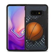MyBat Vista Hybrid Protector Cover for Samsung Galaxy S10E - Slam Dunk / Black