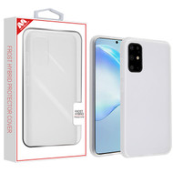 MyBat Frost Hybrid Protector Cover for Samsung Galaxy S20 (6.2) - Semi Transparent White Frosted / Rubberized Semi Transparent White