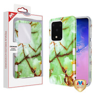 MyBat TUFF Subs Hybrid Case for Samsung Galaxy S20 Ultra (6.9) - Onice Verde Persiano Marble / Transparent Clear