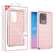 MyBat Fusion Protector Cover for Samsung Galaxy S20 Ultra (6.9) - Rose Gold Dots Textured / Rose Gold